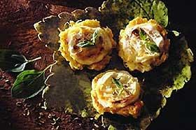 Paillassons de pommes de terre aux Cabécous du Périgord