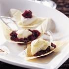 Croustillant de cabécou du Périgord, marmelade de griotte